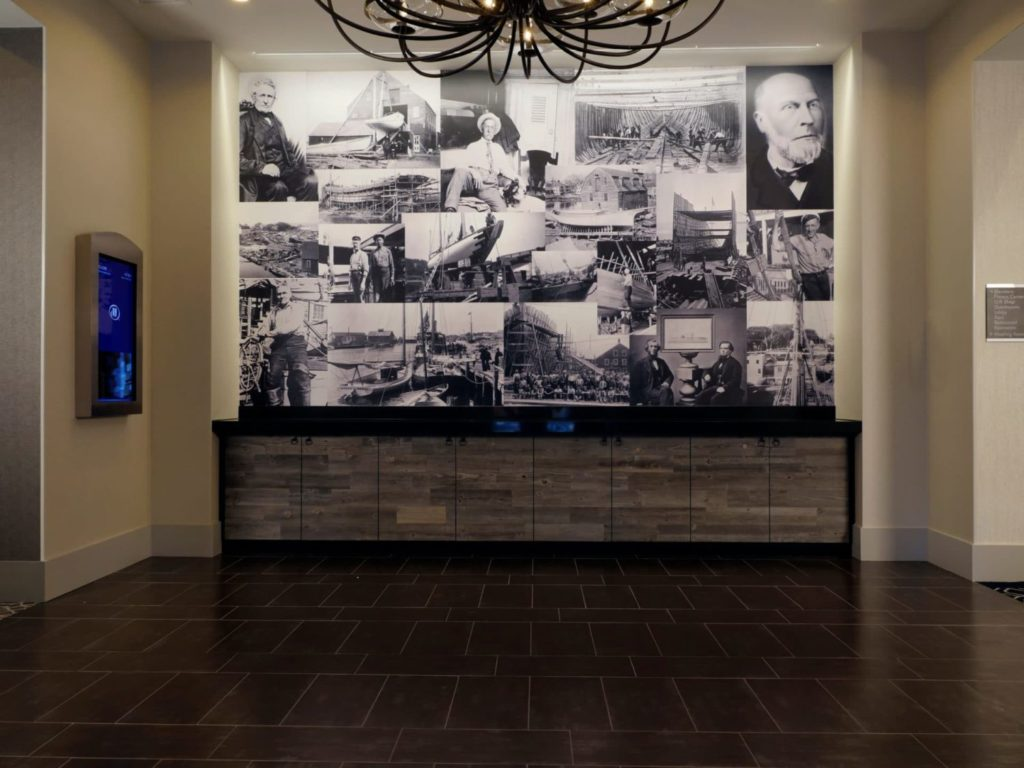 Entrance to Banquet Room at Hilton Mystic