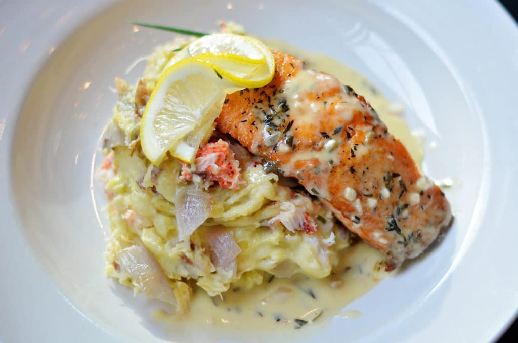 Tavern Fare - Salmon and Lobster Mashed