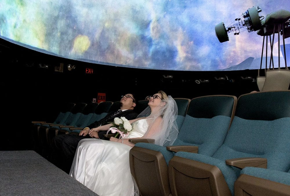 The Discovery Museum and Planetarium - Wedding Ceremony Under the Stars