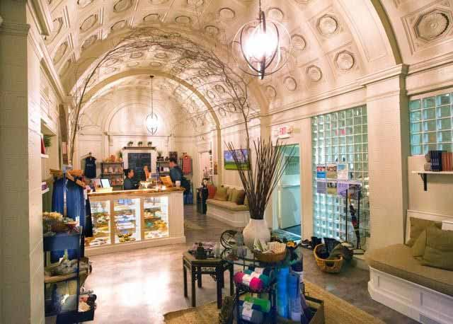 Breathing Room's vibrant boutique is full of your favorite mindfully sourced apparel and specialty items like essential oils, soothing home decor and CBD infused chocolates.