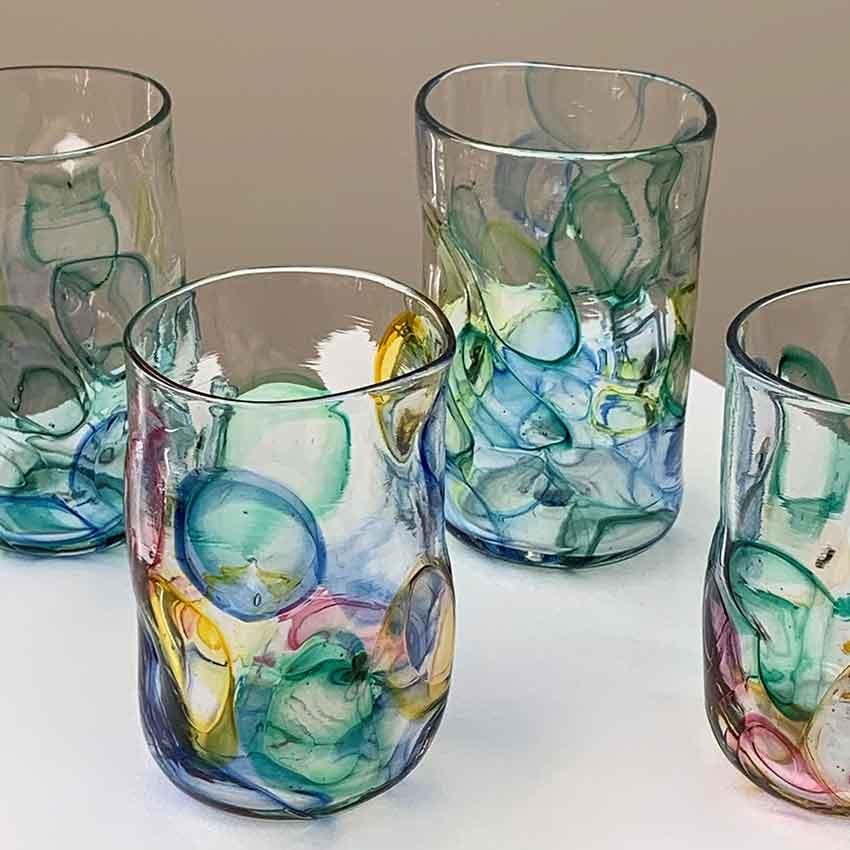 Artisan handcrafted glassware